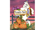 Pumpkin patch sign post adds to your festive yard Halloween scene