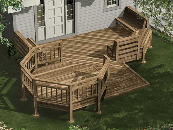 Multi Level Deck Design Plans
