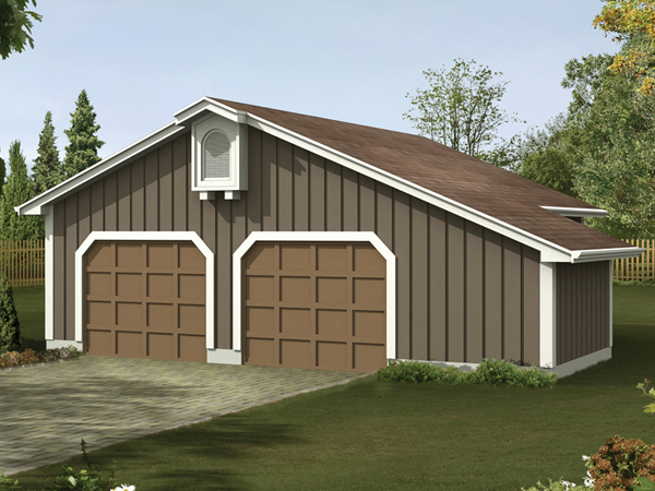 Car Free Garage Plan Two Over 5000 House Plans