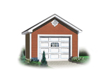 Two-car garage has gabled front roof and simple easy-to-build style
