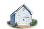One-car garage has classic style
