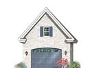Decorative one-car garage with decorative window above garage door