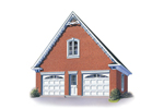 Two-car garage has room to grow on the second floor