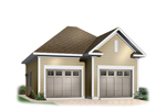 Two-car garage has sleek exterior that fits well with many home designs
