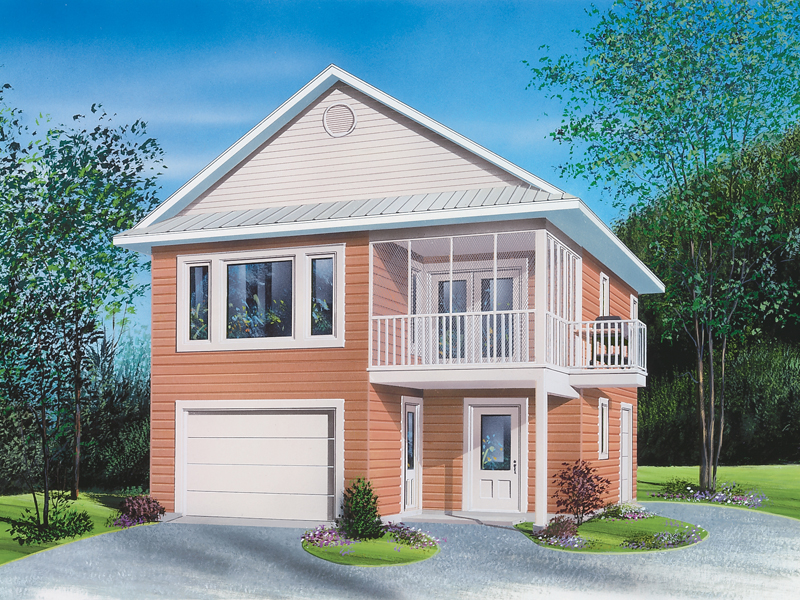 Building Plans Front of Home 113D-7502 | House Plans and More