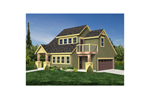 Two-car garage apartment with craftsman style, shingle siding and rustic touches
