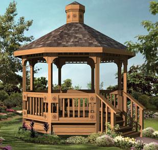 freestanding wood gazebo design