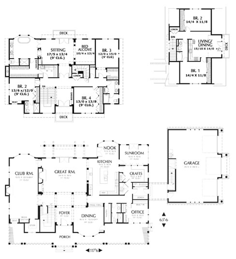 floor plans with apartment garage