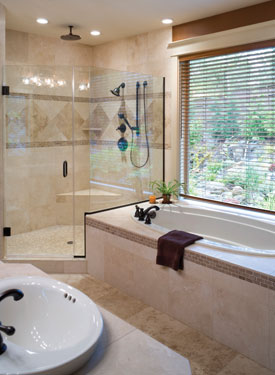open and luxurious bathroom