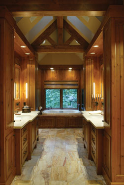 rustic luxury bathroom