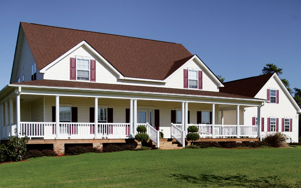 Farmhouse with covered front porch