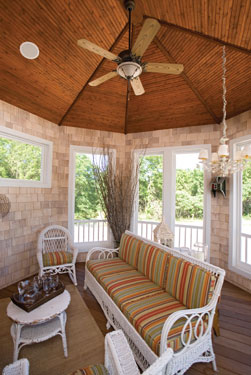 inviting vaulted sunroom
