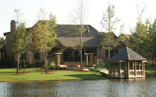 Luxury home design with floating gazebo
