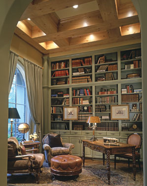 tall bookcases with accessories mixed in