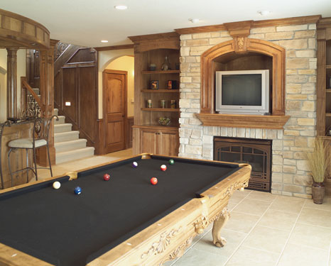 lower level billiards room