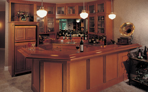 Fully Stocked Wet Bar