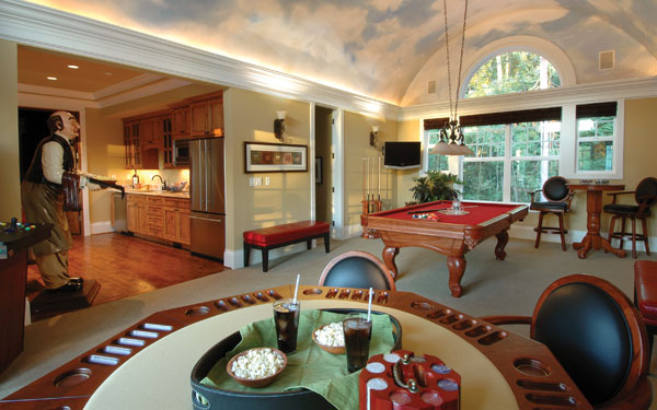 Billiards room ideas house plans and more - Game room in house ...