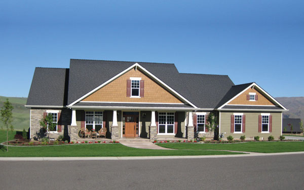 craftsman style ranch home plan - Ranch Style House Plans