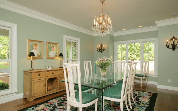 springtime themed dining room