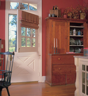 country home kitchen entry