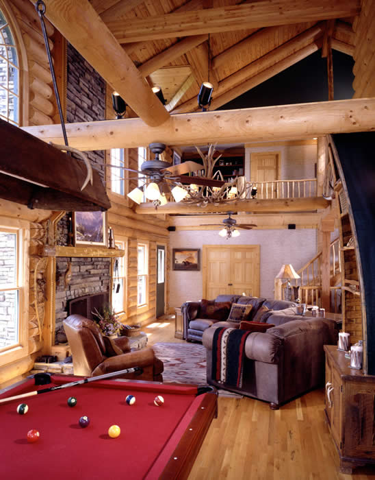log recreation room