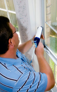 caulking home window