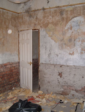flood damaged room