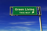 thumbnail of green living highway sign