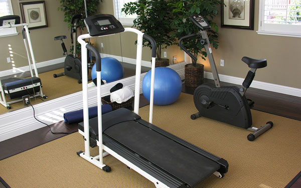 home exercise room simple home decoration