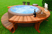 luxury wood hot tub thumbnail