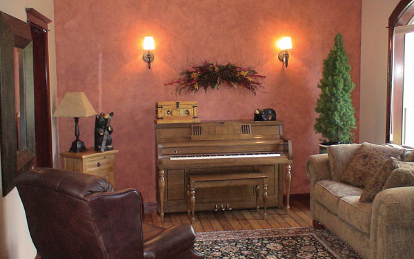 cozy piano room