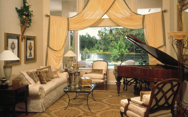 elegant piano room