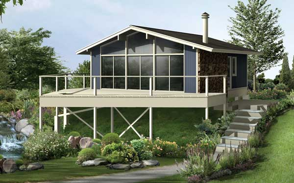 vacation home with pier foundation