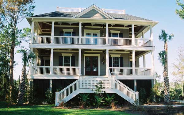 southern style home with pier foundation