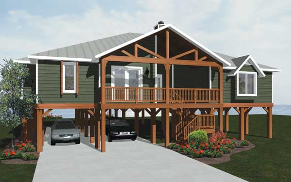 Pier foundations house plans and more for Foundation for homes
