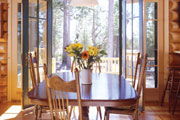 rustic dining room open to nature thumbnail