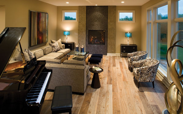 stylish piano room