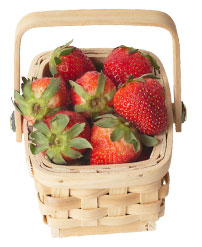 basket of fresh strawberries